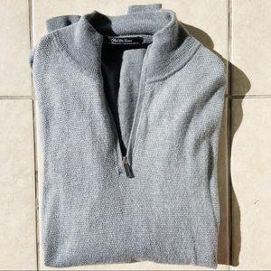 Sak's Fifth Avenue Men's Wool Quarter Zip Sweater